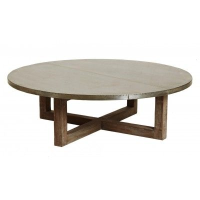 argo zinc top round coffee table | coffe table, dining and room