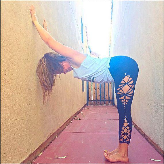 Braided Leggings//Yoga//Festival//dance hourglass ...