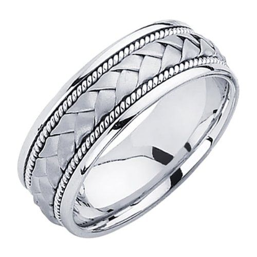 The innovative design in beautiful and resilient solid 14 karat gold makes this wedding band an instant classic. Perfect for the contemporary male or female who appreciates elegance and who wants their jewelry to complement his or her own personal style.