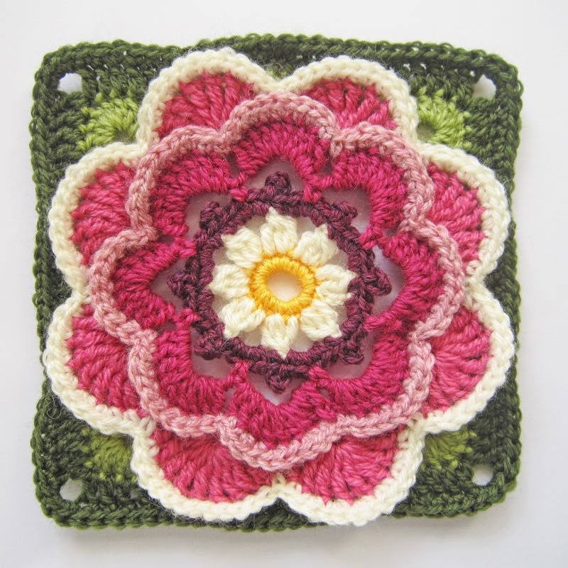 Lily pad block 2 - Jane Crowfoot & Stylecraft CAL || my life in ...