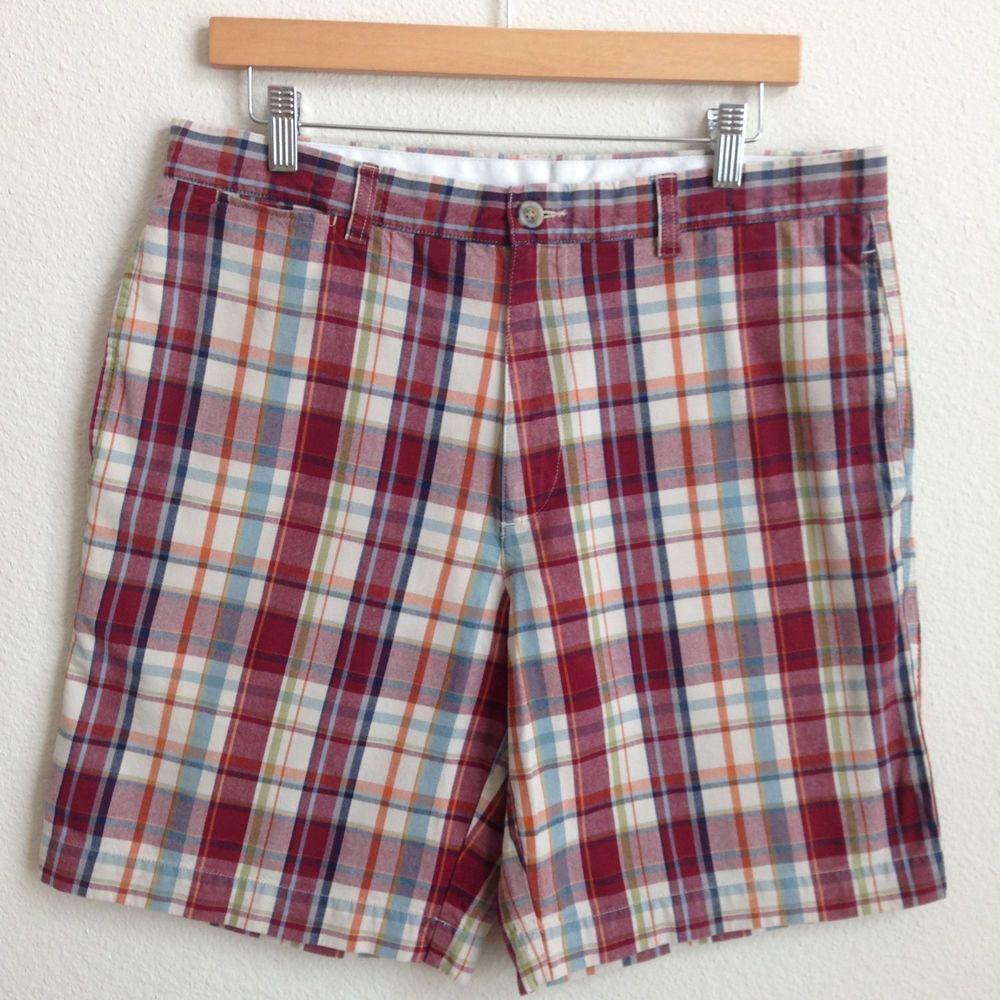 Men's LL Bean Plaid Shorts Multicolor size 34 #RalphLauren #CasualShorts