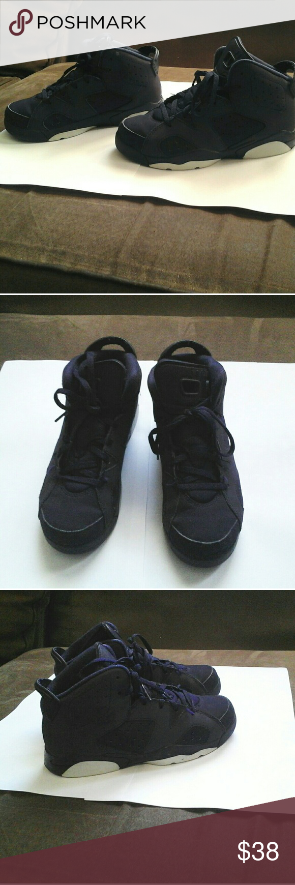 9e8bdcb6bed5ca Nike Air Jordan Retro 6 Purple Dynasty Sneakers I have a pre-owned Retro 6  Jordan purple Dynasty   Violet youth size 2 sneakers. It has a bit of  normal wear ...
