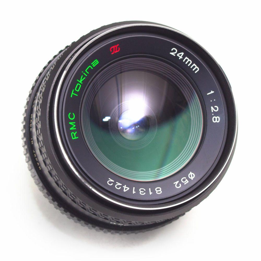 Tokina 24mm F2 8 Rmc Wide Angle Lens Pentax K Pk Fit Manual Focus Japan Exc Vintage Lenses Wide Angle Prime Lens