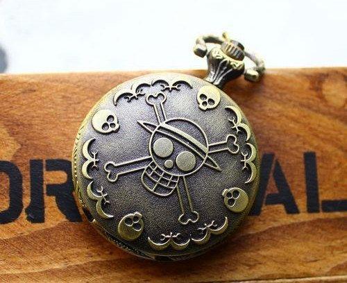 Anime One Piece Pocket Locket Watch Necklace