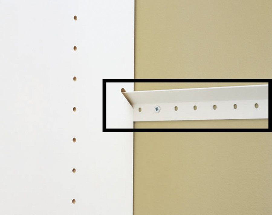 Easy Track RE1048 48 Inch Rail For Easy Track Closet System White Closet  Organizers Clothes Hanging