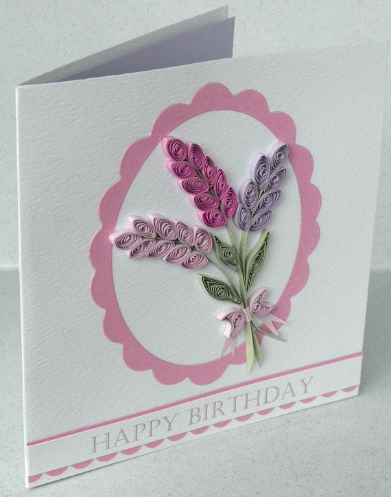 Quilled birthday card paper quilling also sobres de papel rh co pinterest