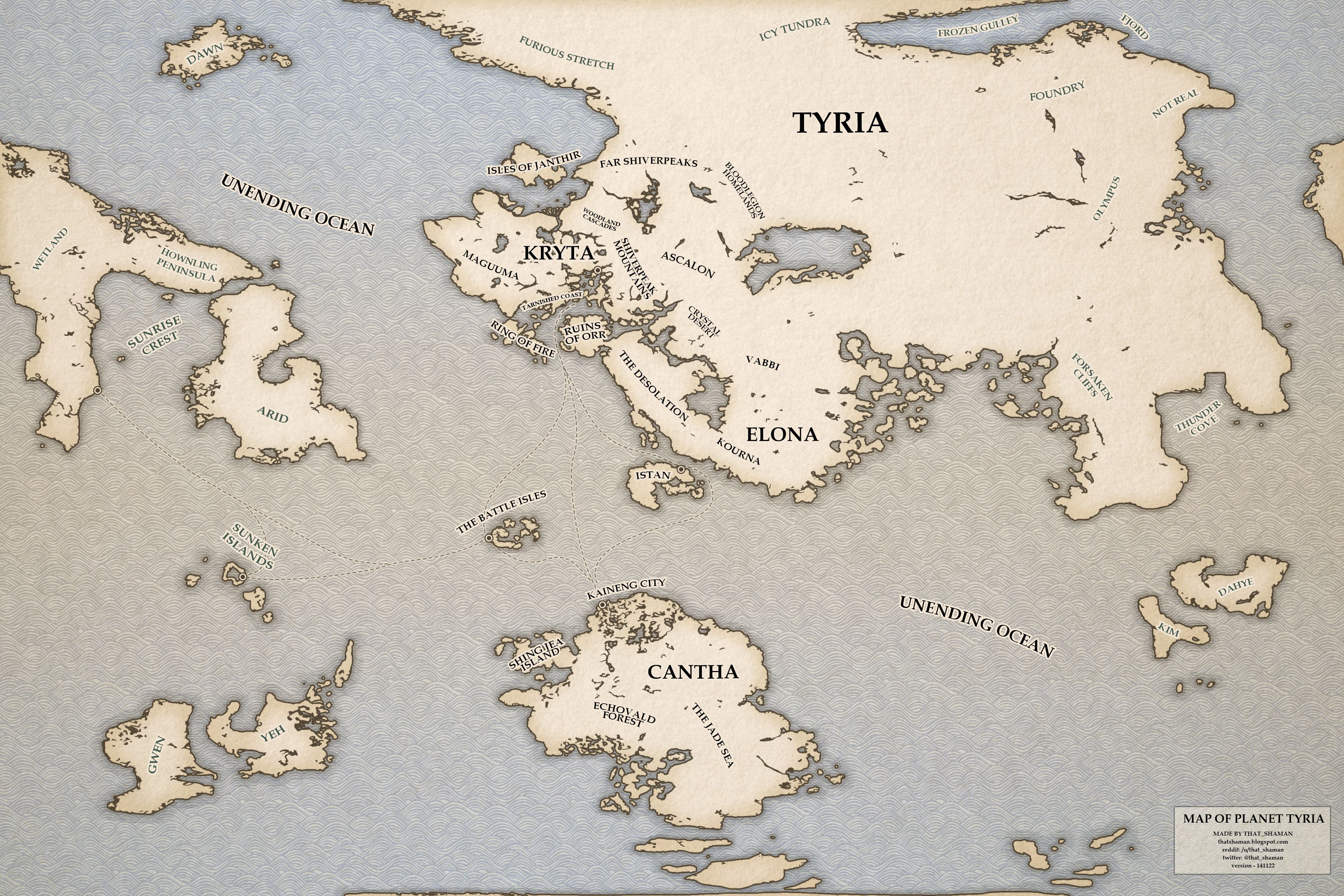 Guild Wars World Map Tyria World Map 2014 v2 (With images) | Guild wars 2, Guild wars, Map