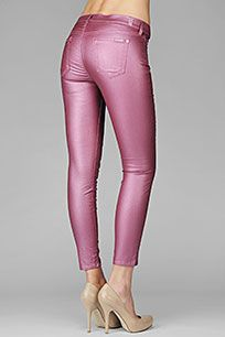 7 for all mankind!!!  Pink Metallic Pants...Love me some Pink!!!