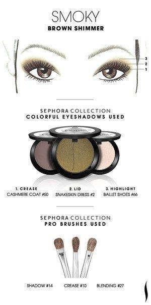 9 вариантов макияжа глаз.