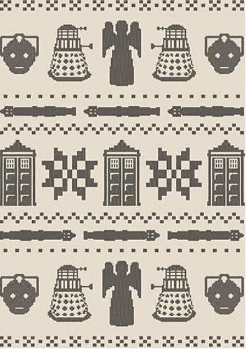 Ravelry: Doctor Who Faux Fair Isle chart pattern by Ruth Klein ...