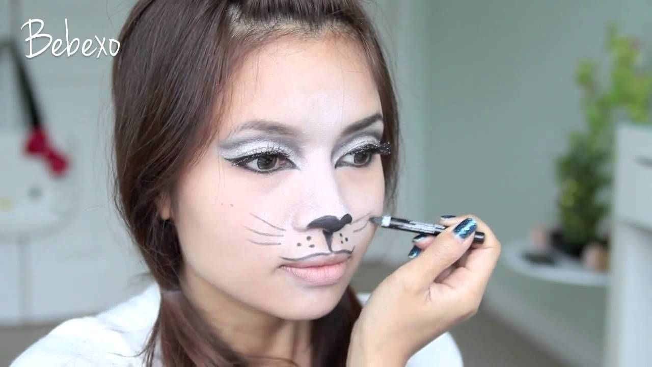 sassy cat halloween makeup tutorial | halloween ideas | pinterest