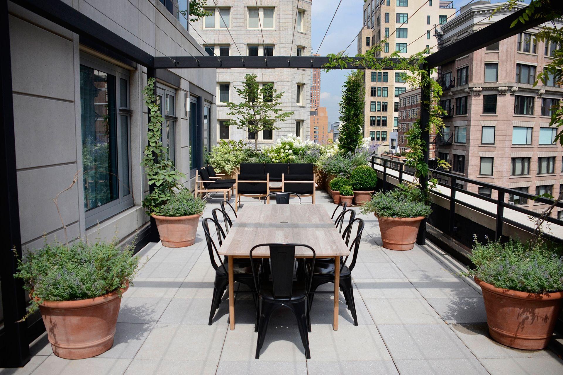 Smyth Hotel Tribeca City Terrace Rooftop Garden Design Harrison Green
