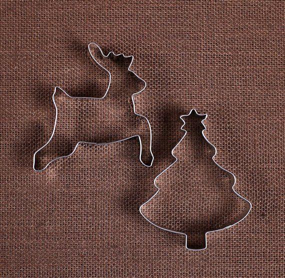 Christmas Cookie Cutter Set Reindeer Cookie Cutter, Christmas Tree
