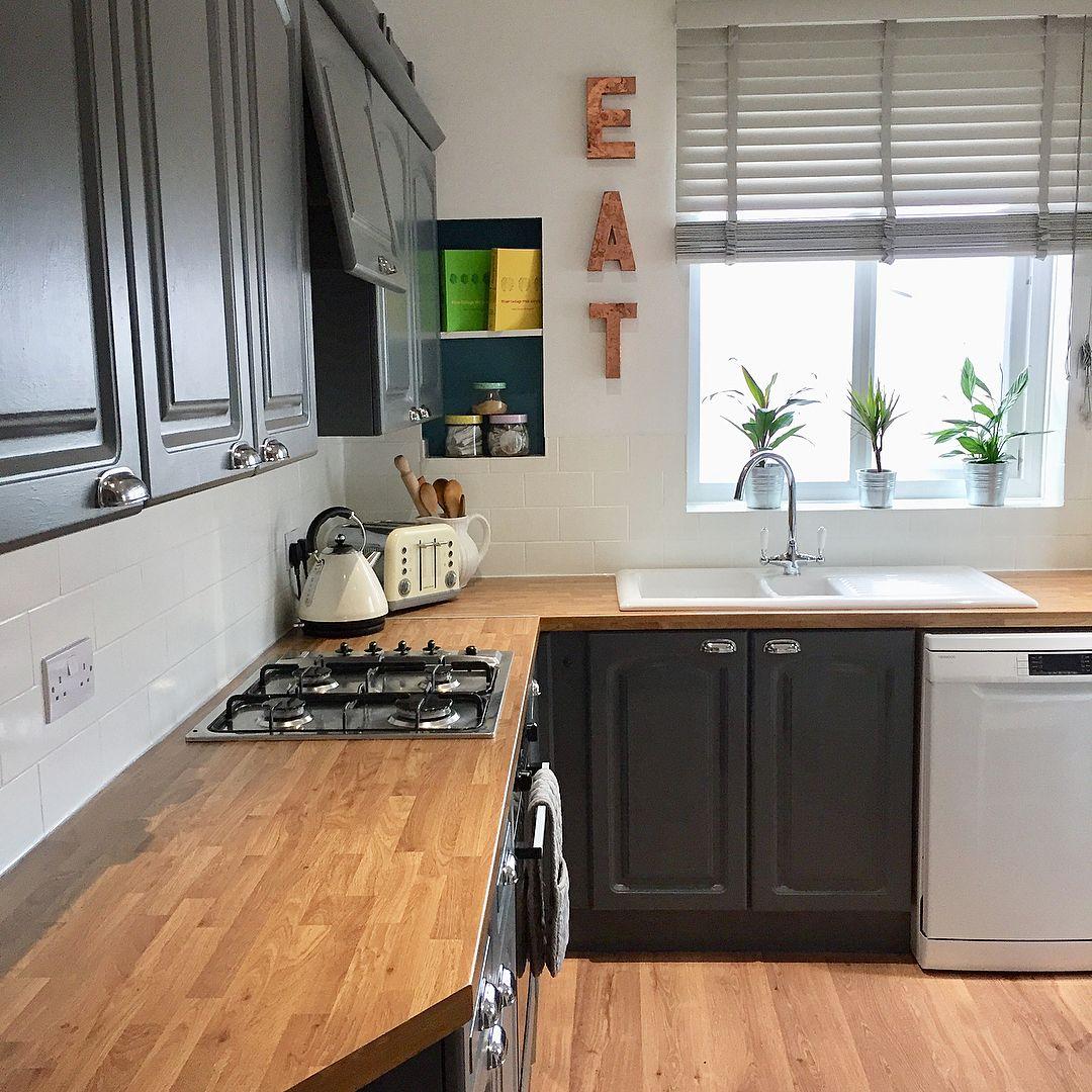Valspar Gray Shingle Painted Kitchen Kitchen