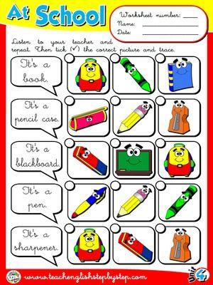 At School - Worksheet 6
