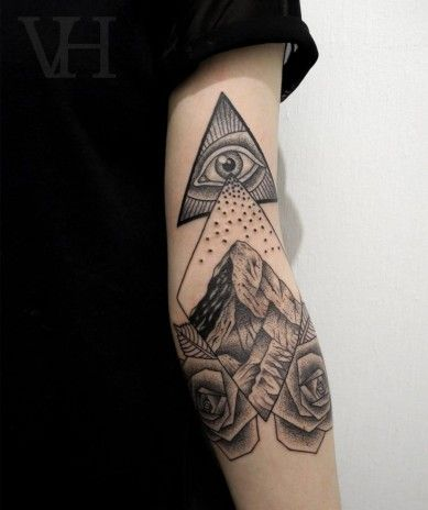 "90e10f9c5 Tattoos of the Mighty ""Eye of Providence"" 