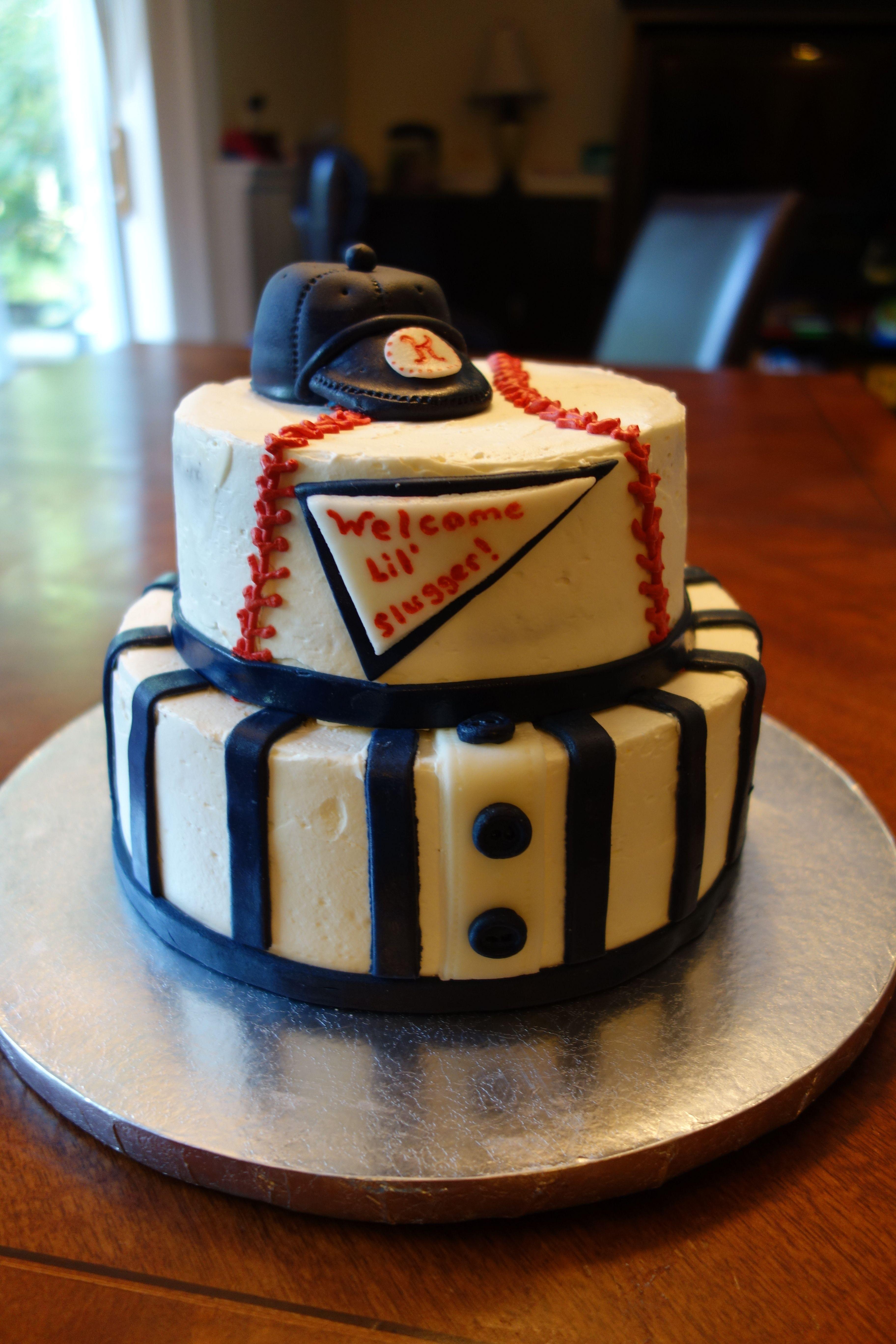 Baseball Baby Shower Cake Cakes Pinterest Shower Cakes Cake