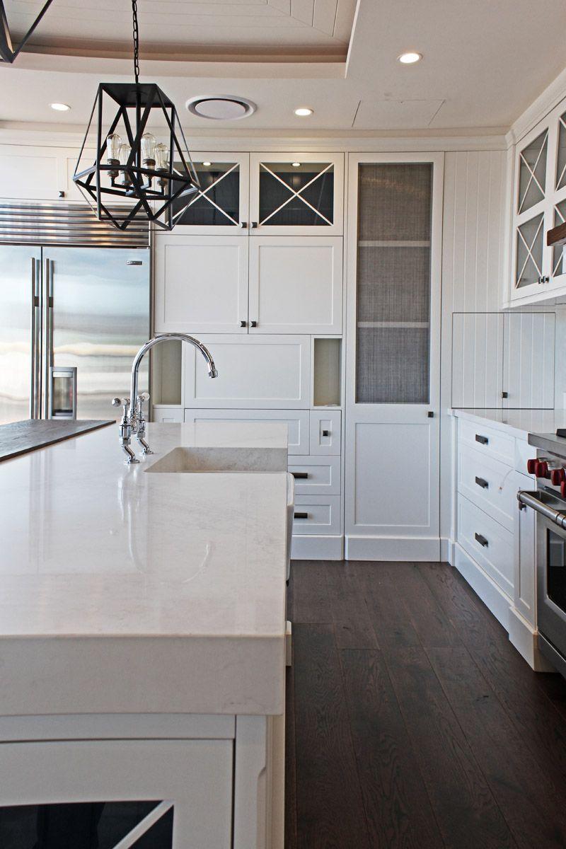 Best Caesarstone Calacatta Nuvo White Modern Kitchen 400 x 300