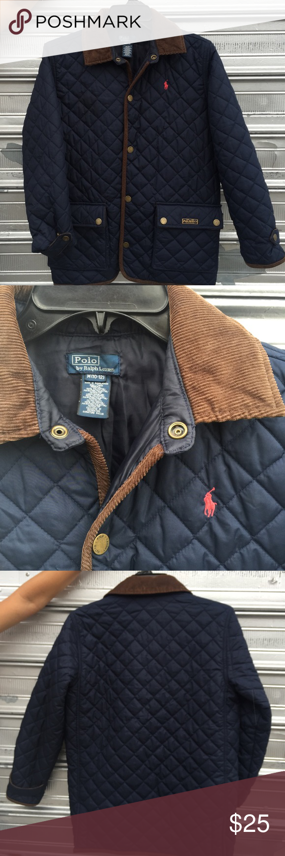 Polo Ralph Lauren boys quilted jacket 10/12 med   Ralph lauren ... : childrens ralph lauren quilted jacket - Adamdwight.com