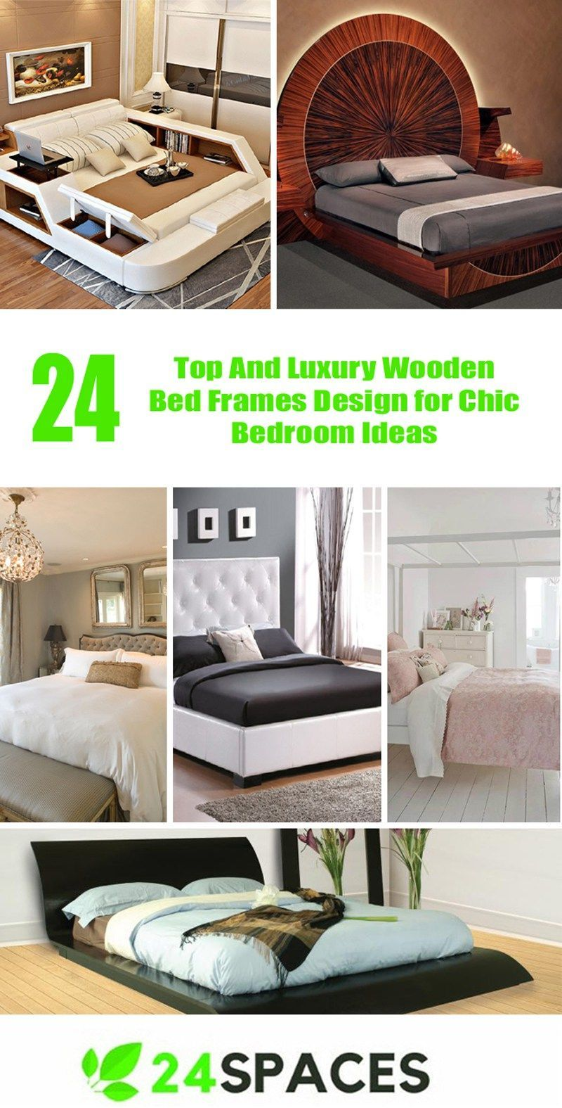Top And Luxury Wooden Bed Frames Design For Chic Bedroom Ideas