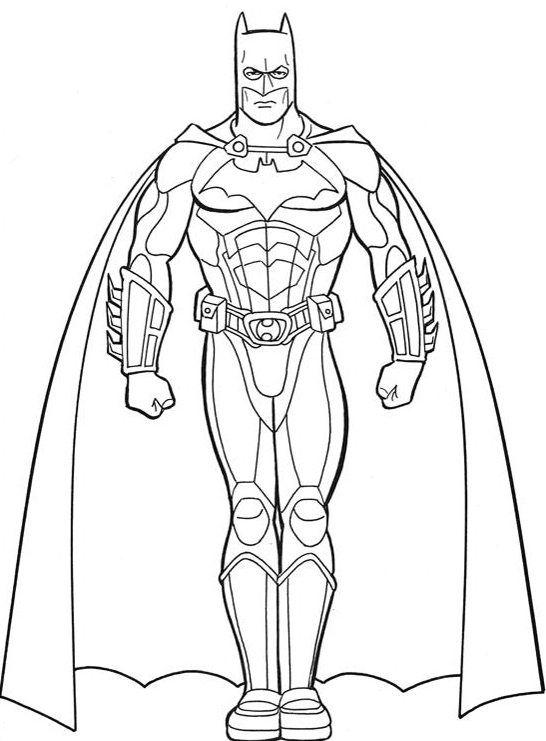 Super Heroes Coloring Coloring Pages Printable Batman Coloring Pages Printable Batmanfull Size Image Malarbocker Malarbok Superhjaltar