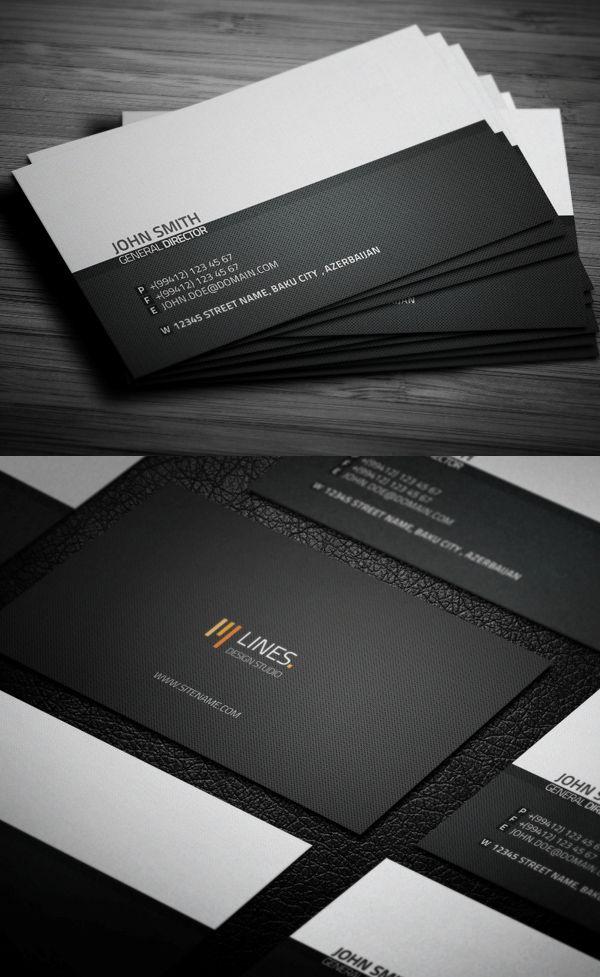 Minimalist Business Card #businesscards #businesscardtemplates ...