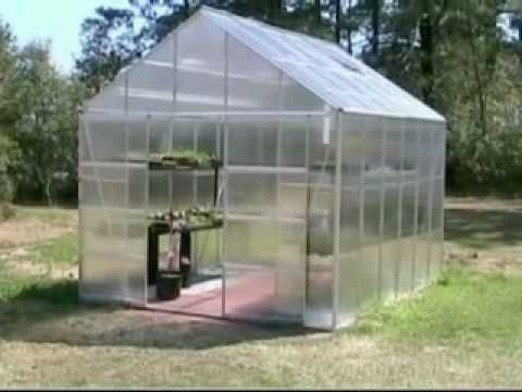 Video Shows A Small Attic Fan Installed In The Harbor Freight Greenhouse Greenhouse Plans Greenhouse Diy Greenhouse