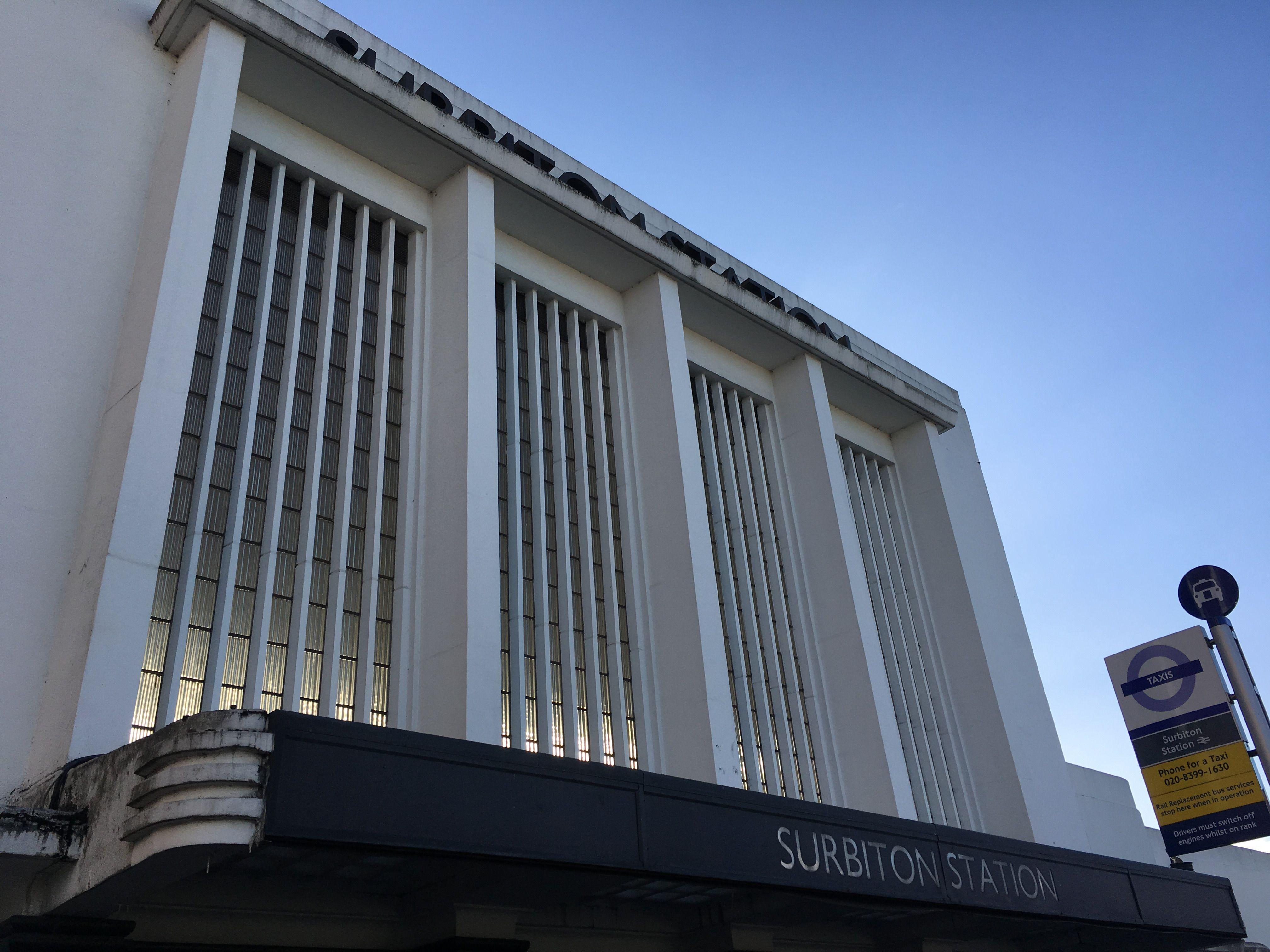 surbiton art deco train station - Google Search | Production & Theming |  Pinterest | Art deco
