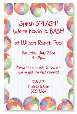 Host the Hottest Summer Birthday Party with these Summer Invitations | from PaperDirect