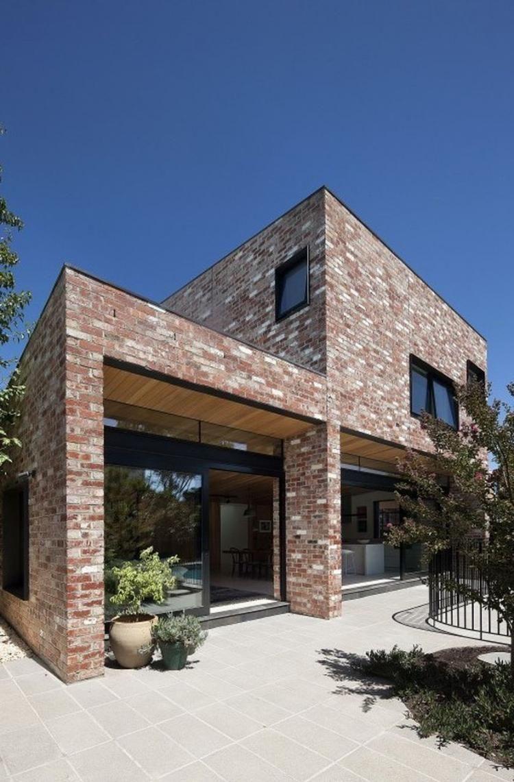 50 Awesome Modern Contemporary Urban House Design Ideas Brick Exterior House Modern Brick House Brick Architecture