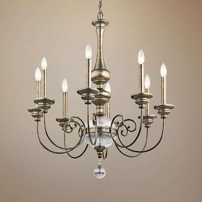 Kichler rosalie 32 wide sterling gold 8 light chandelier 1w609 lamps