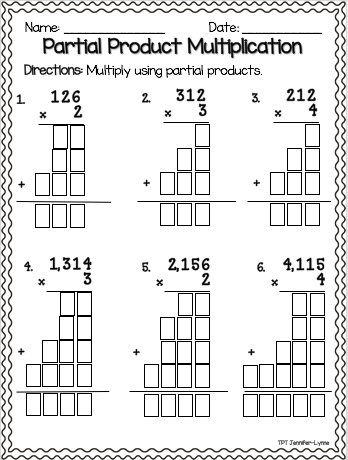 Partial Product Multiplication | Partial product ...