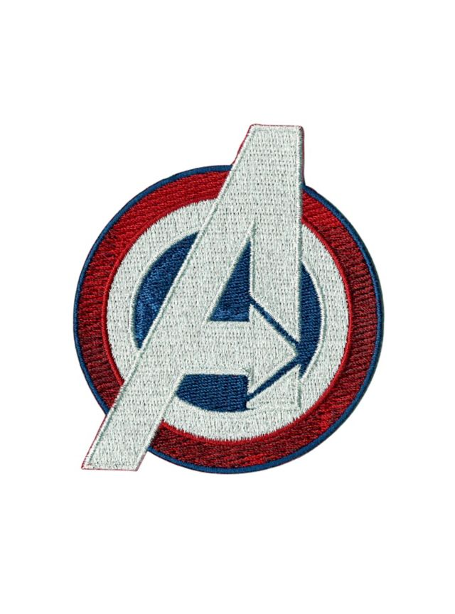 d880e23b2dfa9 Iron-on patch from Marvel with The Avengers embroidered logo design ...