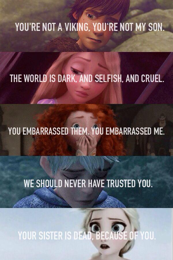 The Big Five. Hiccup, Rapunzel, Merida, Jack, Elsa Rise of the Brave Tangled Frozen Dragons!!! #disneypixar