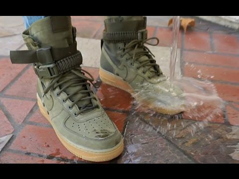 sports shoes 504b0 e6838 NIKE SF AF1  REALEST ON FOOT + WATERPROOF TEST    NIKE SPECIAL FIELD AIR  FORCE 1 - YouTube