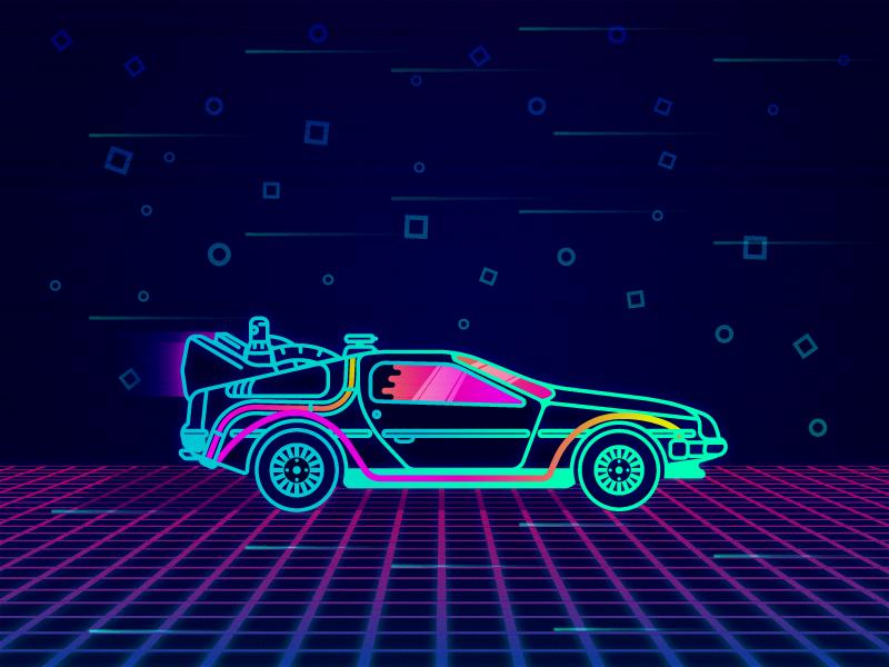 Neon Delorean Future Wallpaper Delorean Rocket League Wallpaper