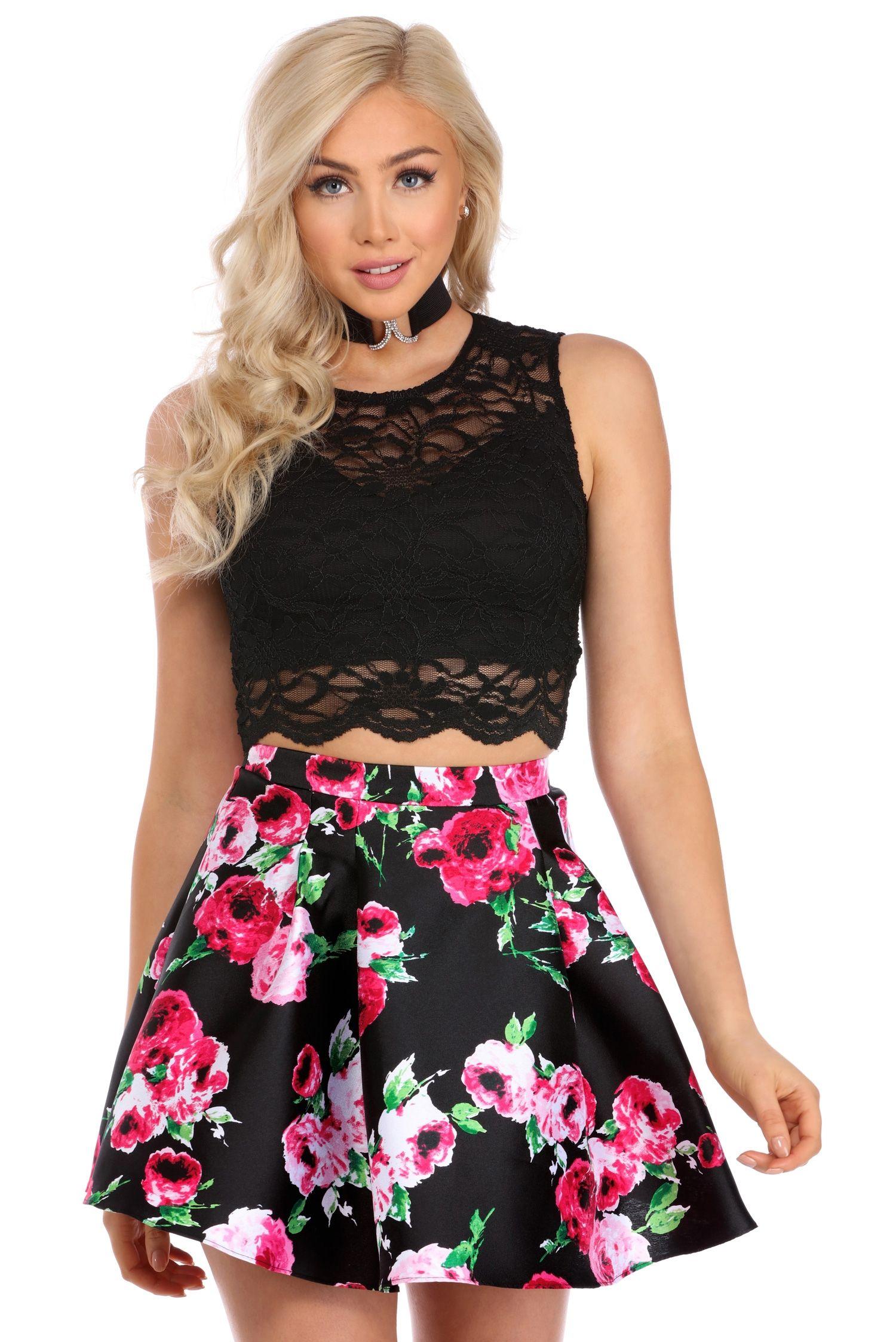 2324bcc9a547 Martha Black Two Piece Dress | windsor | Short Dresses | Two Piece ...