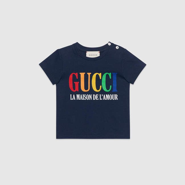 343f571f95 Gucci Baby cotton polo with stripe | Products | Gucci baby, Designer ...