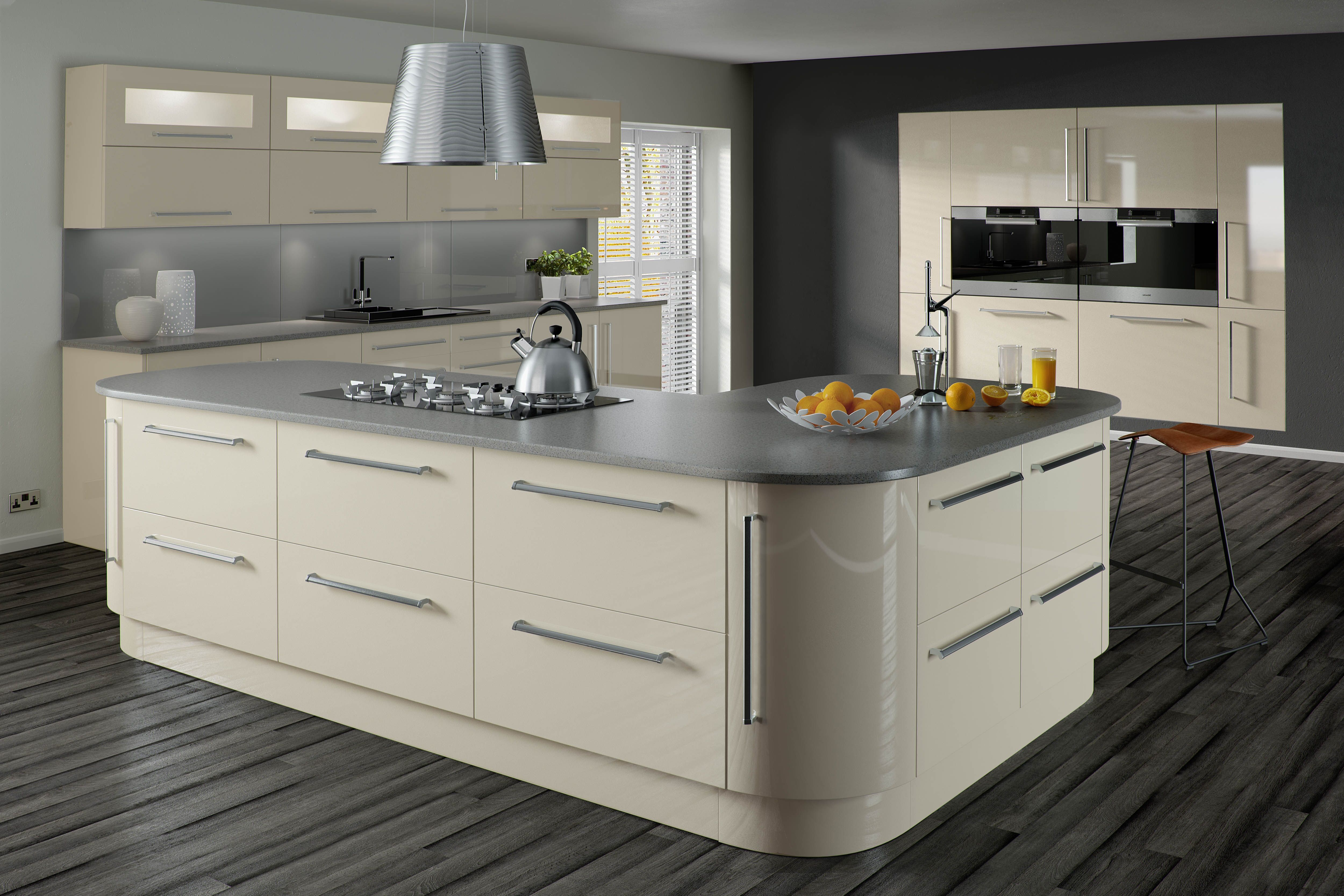 lumi cashmere gloss crest contemporary kitchen collection kitchens