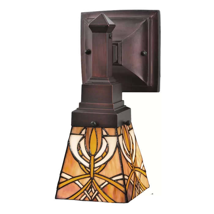 Meyda Tiffany Glasgow Bungalow 1 Light Armed Sconce Wayfair Meyda Wall Sconces Sconces