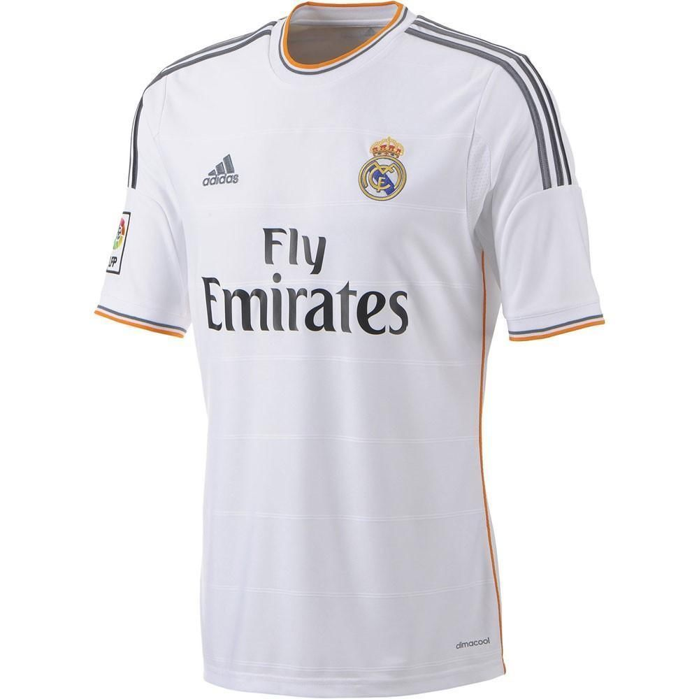 Real Madrid Adidas Genuine White Mens Home Short Sleeve Football Shirt 2013 14 In 2020 Real Madrid Real Madrid Shirt Soccer Jersey