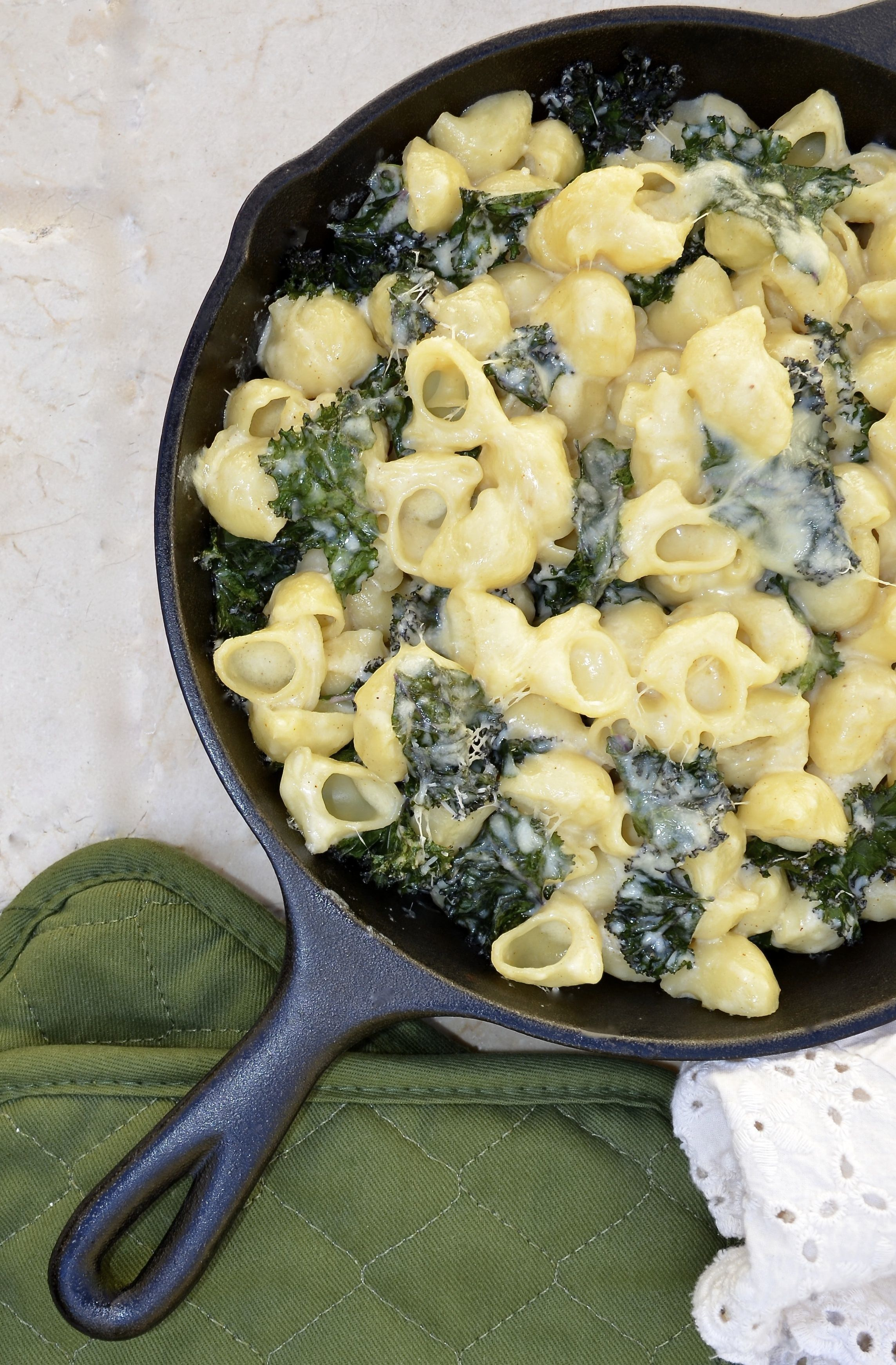 Truffled Mac and Cheese with Kale Recipe