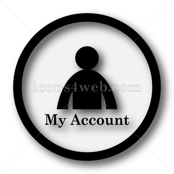 My account simple icon My account simple button My account simple icon My account simple button Royalty free image for your projects High quality internet button on white...