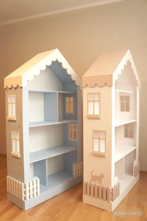 Kız çocuk odaları için ev şeklinde detaylar!