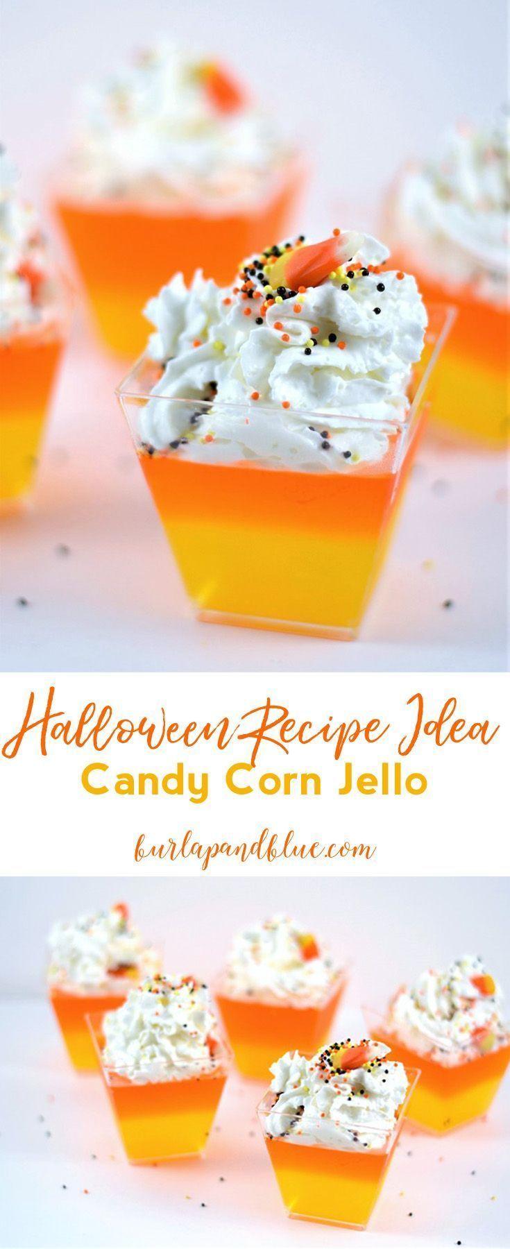 No Bake Halloween Treats {Make Candy Corn Jello} Fun