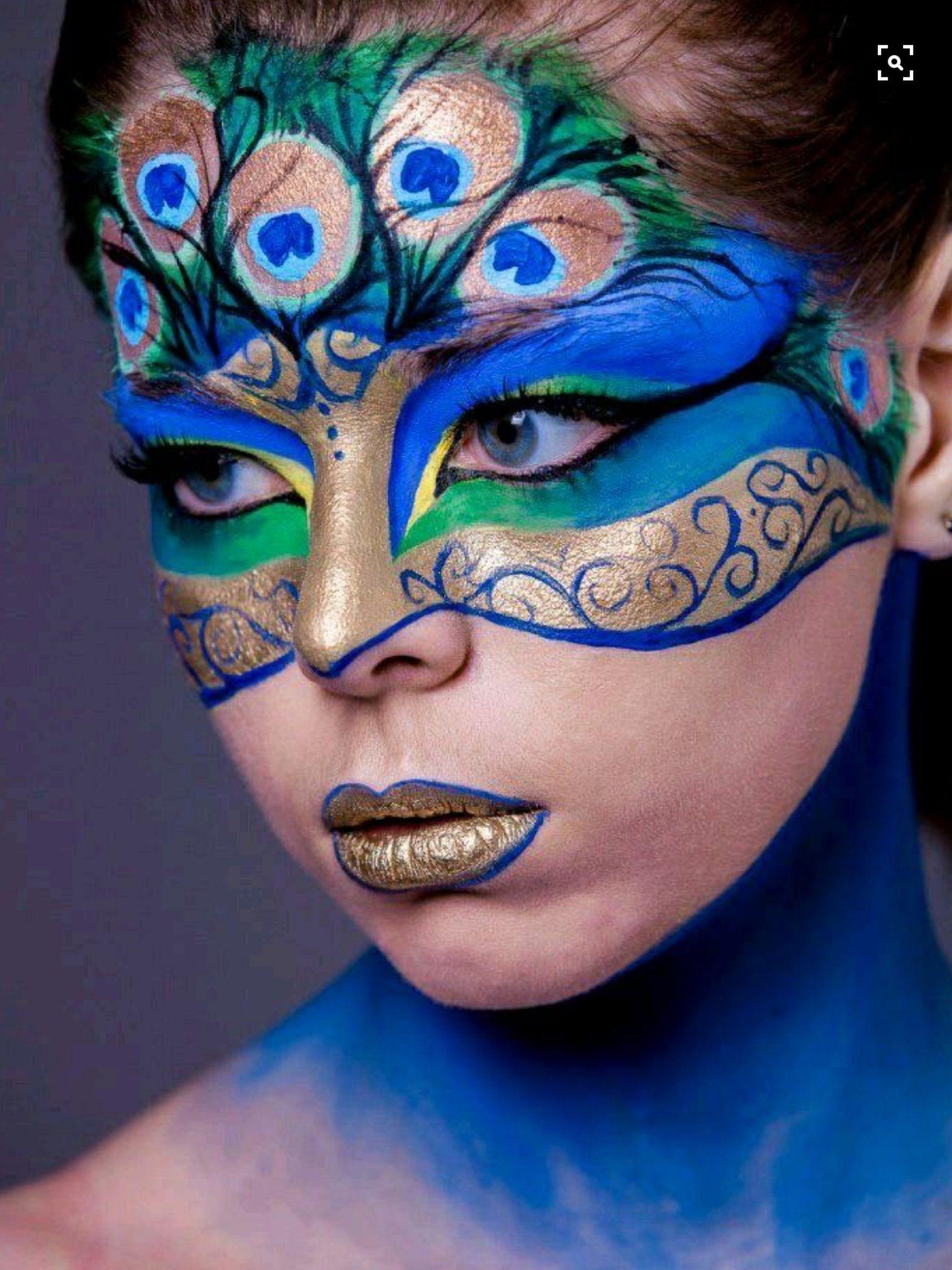 peacock circus makeup makeup pinterest gesicht schminken make up und karneval schminken. Black Bedroom Furniture Sets. Home Design Ideas