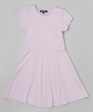 Light Lilac Cap-Sleeve Dress - Girls by Glamour Girls #zulily #zulilyfinds