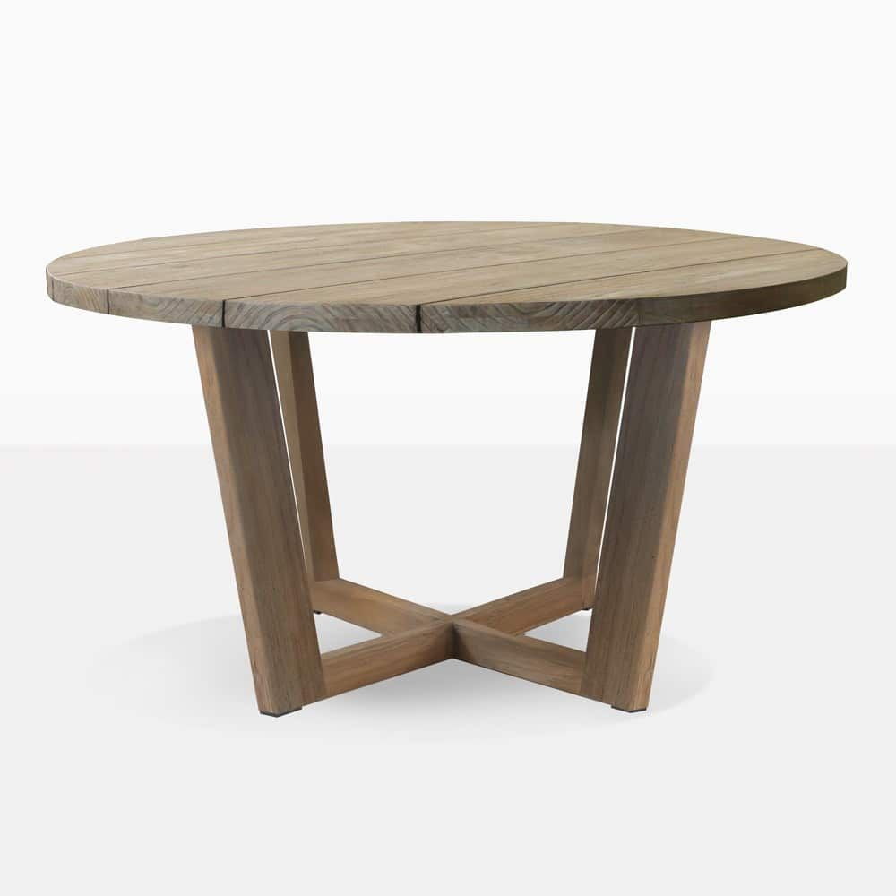 At Last A Beautiful And Distinguished Looking Round Dining Table For Outdoor Use The Coco Dining In 2020 Round Outdoor Dining Table Dining Table Round Outdoor Table