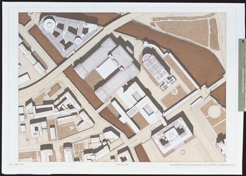 Giorgio Grassi Concorso Per Il Neues Museum E Completamento Della Museumsinsel Italian Architecture Architecture Drawing Drawings
