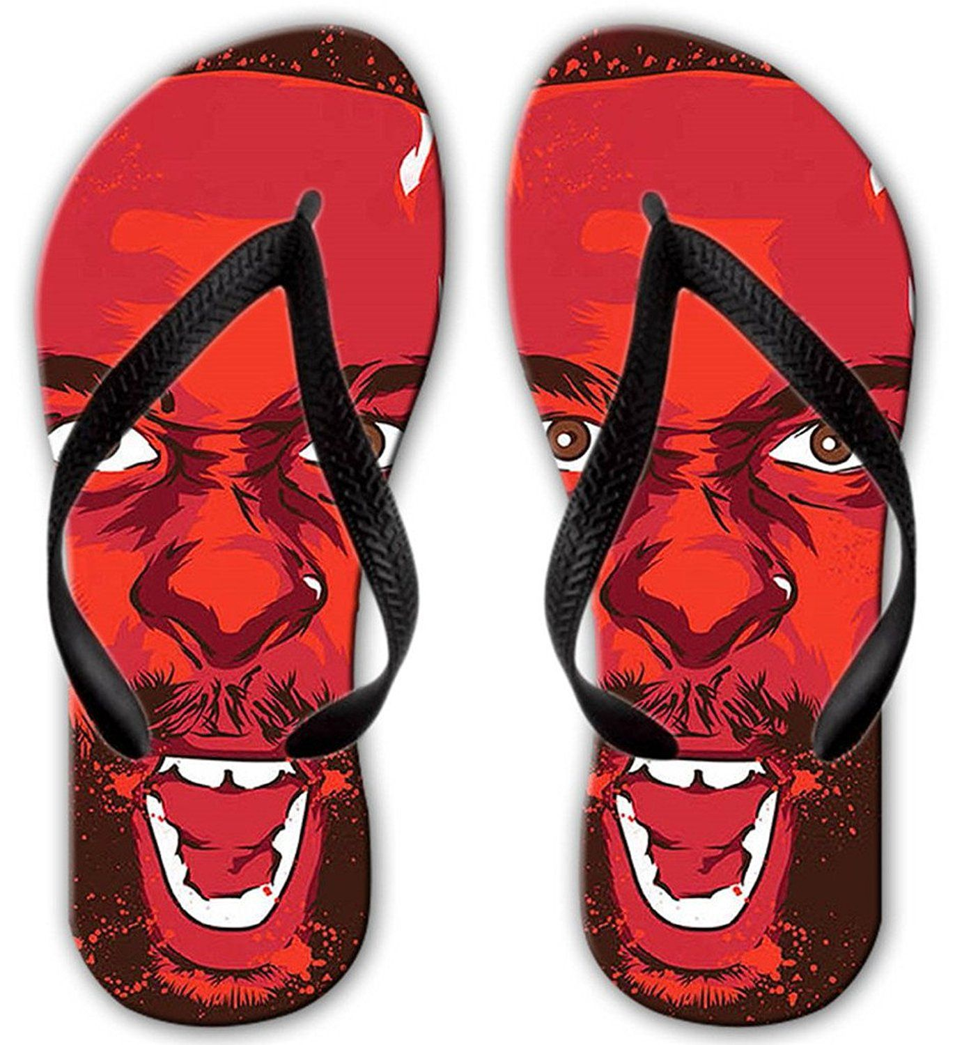 Fire Tiger Unisex Summer Casual Flip Flop Beach Slippers Flat Sandals